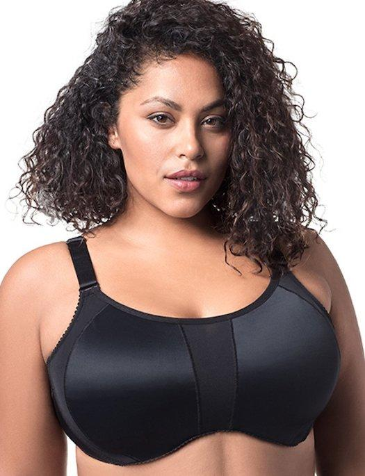 Elila Zaylee High Impact Underwire Sports Bra BRA - BASIC - SPORTS ELILA BLACK 40K