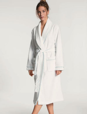 Calida Cosy Shower Bathrobe SLEEPWEAR - ROBE - REP CALIDA WHITE LG