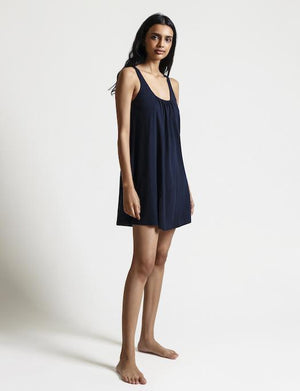 Skin Organic Pima Cotton Karla Chemise SLEEPWEAR - CHEMISE - CHEMISE 1 (>$100) SKIN NIGHT SHADOW 4