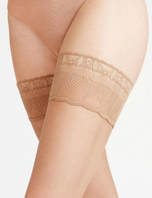 Falke Lunelle 8 Denier Stay Up Thigh Highs ACCESSORIES - HOSIERY FALKE POWDER III