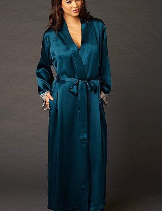 Julianna Rae Indulgence Long Silk Robe