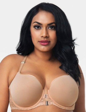 Curvy Couture Tulip Front Close TShirt Bra BRA - BASIC - T-SHIRT Curvy Couture