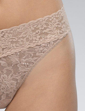Hanky Panky Signature Lace Low Rise Thong PANTY - THONG - ODD Hanky Panky TAUPE O/S