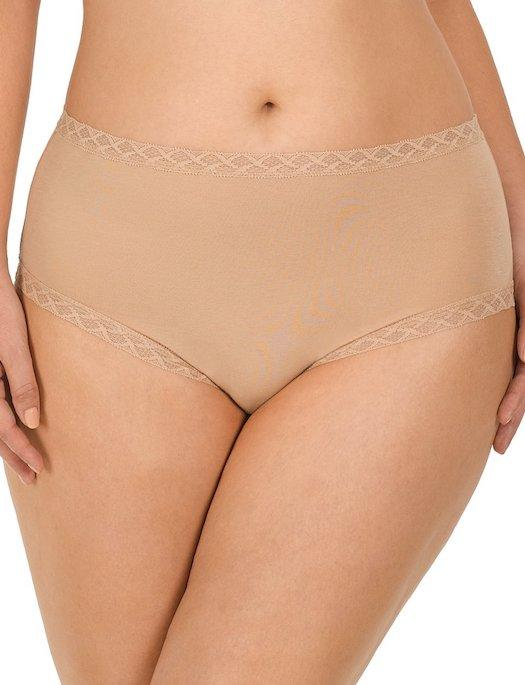 Natori Bliss Cotton Full Brief PANTY - BRIEF - ODD NATORI BRA CAFE 2X