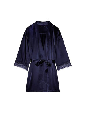 Journelle Charlotte Short Robe SLEEPWEAR - ROBE - ROBE 3 ($201-$300) Journelle MIDNIGHT LG