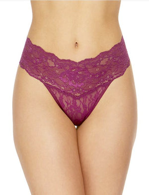Hanky Panky American Beauty Rose Natural Rise Thong PANTY - THONG - ODD Hanky Panky PLUM ROSE XL