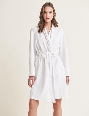 Skin French Terry Robe with Attached Belt SLEEPWEAR - ROBE - ROBE 2 ($101-$200) SKIN WHITE 3