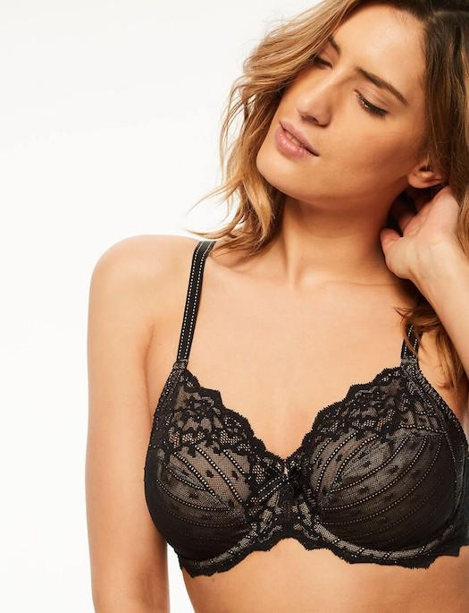 Chantelle Rive Gauche 3 Part Cup Bra BRA - BASIC - CLASSIC CHANTELLE BLACK 32F