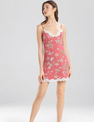 Josie by Natori PrimRose The Girlfriend Slip SLEEPWEAR - CHEMISE - CHEMISE 1 (>$100) JOSIE FRENCH ROSE LG