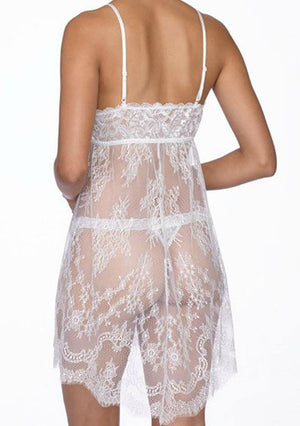 Hanky Panky Victoria Lace Bridal Chemise and G-String SLEEPWEAR - BRIDAL - REP Hanky Panky