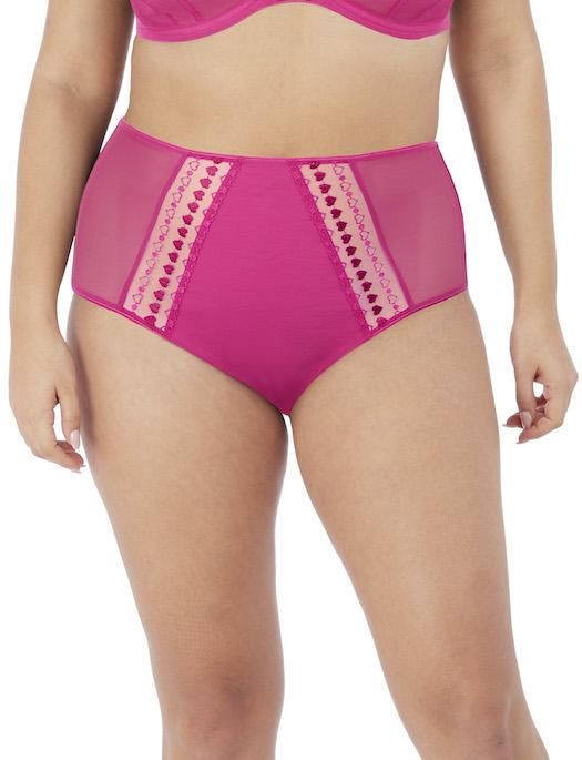 Elomi Matilda Full Brief, PINK KISS PANTY - BRIEF - FASHION ELOMI 4X