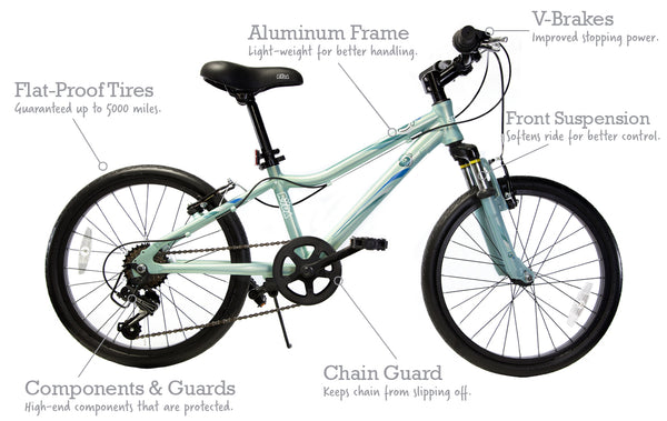 "20"" Flow 7-Speed Bicycle - Ryda Bikes"