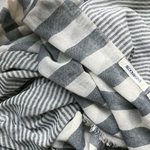 How to Style Your Sagar Cotton Gray Scarf