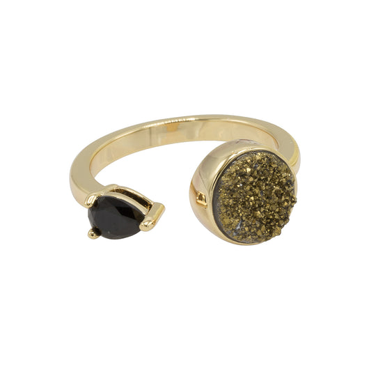 Yvette Druzy Ring - Gold with Gold Druzy
