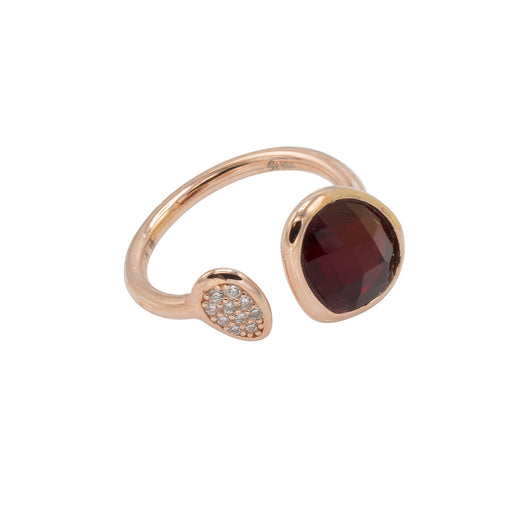Amanda Ring - Rose Gold w Ruby