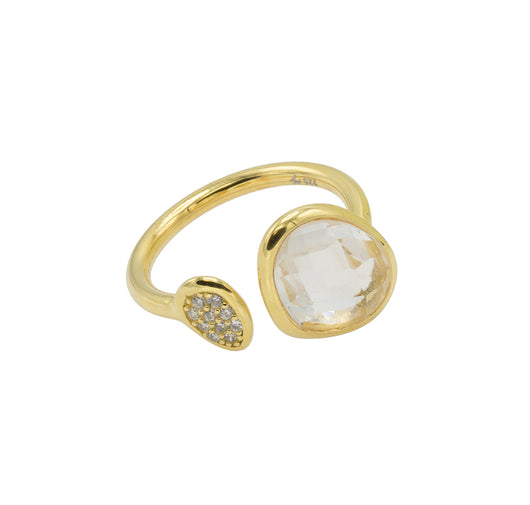 Amanda Ring - Gold with Crystal