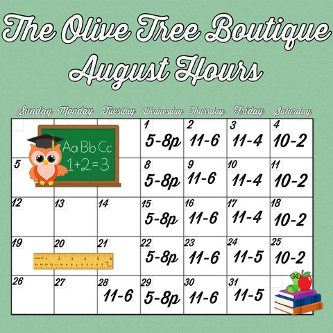 The Olive Tree Boutique Store Hours
