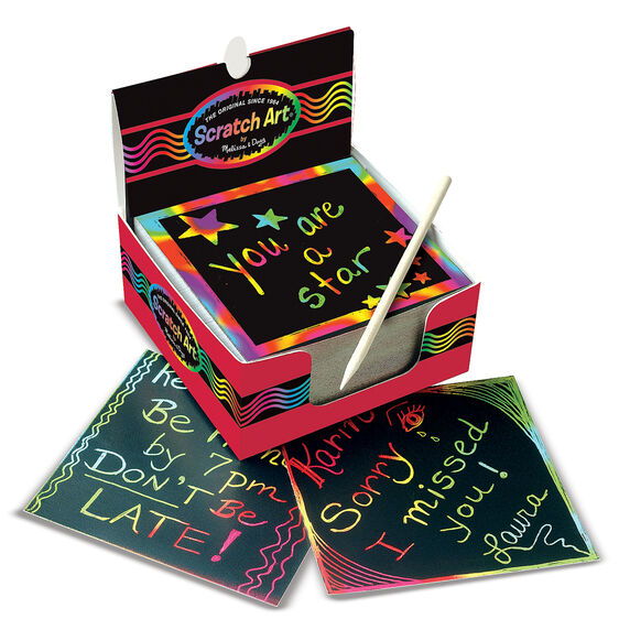 Melissa & Doug Scratch Art Box of Rainbow Mini Scratch Art Notes