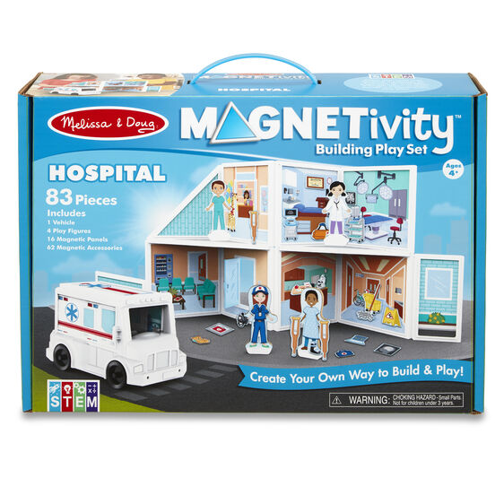 Melissa & Doug Magnetivity Building Play Set - Hospital
