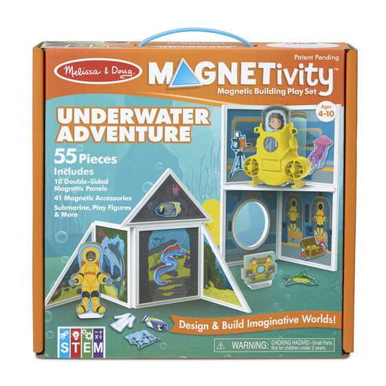 Melissa & Doug Magnetivity Building Play Set - Underwater Adventure