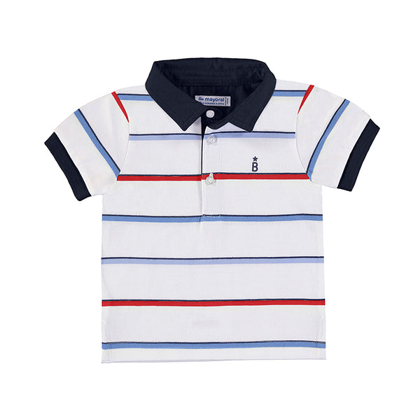 Mayoral Short Sleeve Striped Polo