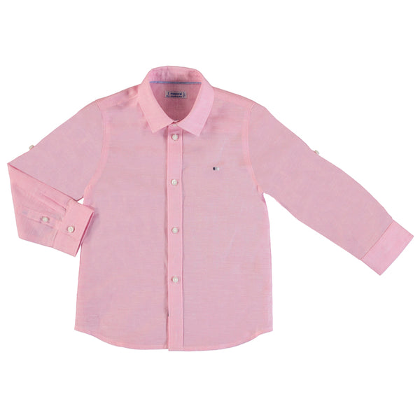 Mayoral Linen Long Sleeve Buttondown Shirt