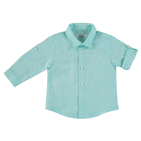 Mayoral Baby Boy Long Sleeve Linen Shirt
