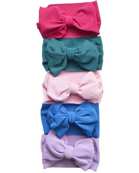 Bailey's Blossoms Messy Bow Headwrap - Jewel Tones