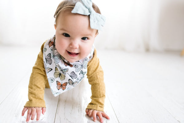Copper Pearl Bandana Bibs - Dot Collection