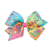 Wee Ones King Words Print Bow