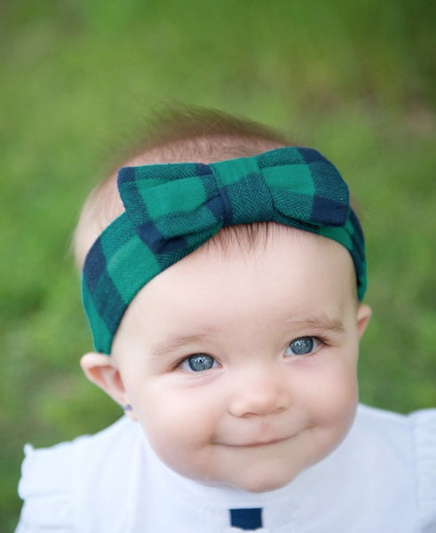 RuffleButts Buffalo Plaid Headband