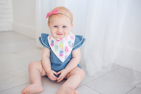 Copper Pearl Bandana Bibs - Summer Collection