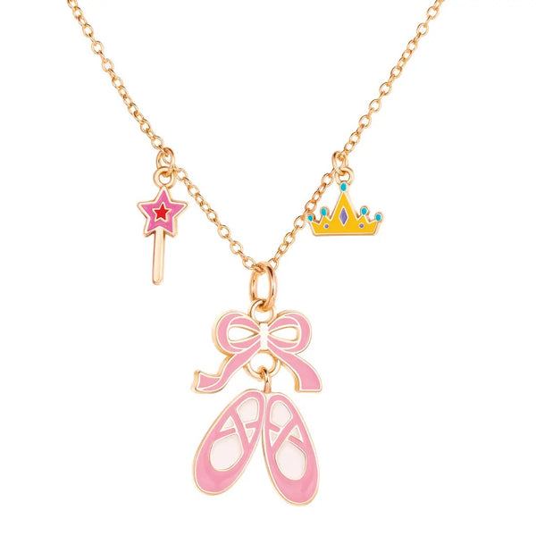 Girl Nation Ballet Shoes Charming Whimsy Necklace
