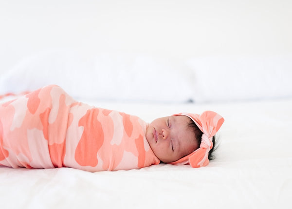 Copper Pearl Knit Swaddle Blanket - Remi