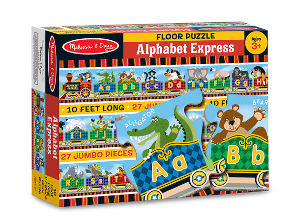 Melissa & Doug Alphabet Express Floor Puzzle - 27 Pieces