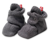 Zutano Cozie Fleece Stay-On Booties - Gray