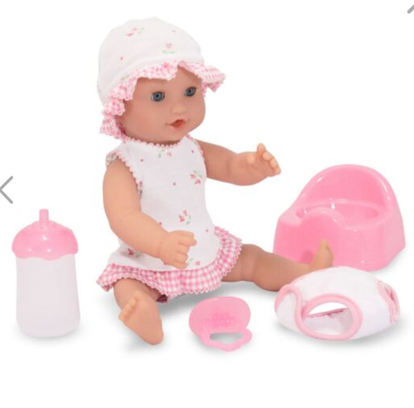 "Melissa & Doug Drink & Wet Doll - Annie 12"" Doll"