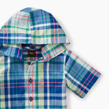 Tea Collection Plaid Hooded Shirt