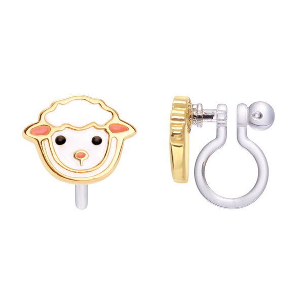 Girl Nation Lovely Lamb Cutie Clip-On Earrings