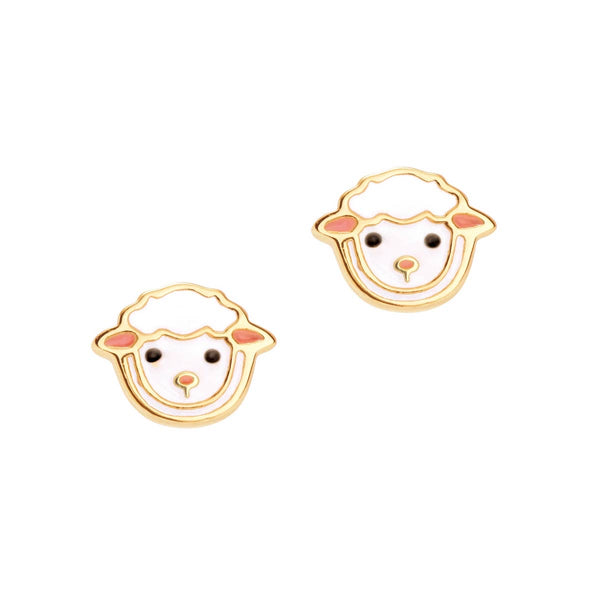 Girl Nation Lovely Lamb Cutie Stud Earrings