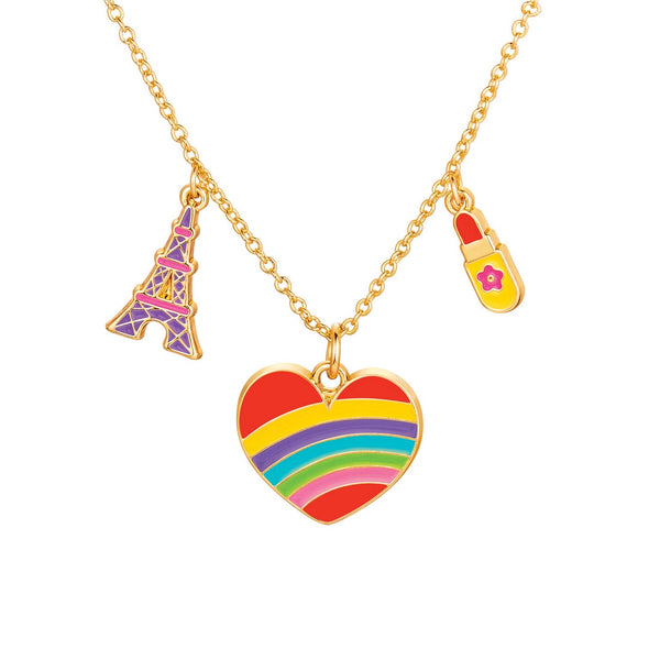 Girl Nation Paris Heart Charming Whimsy Necklace