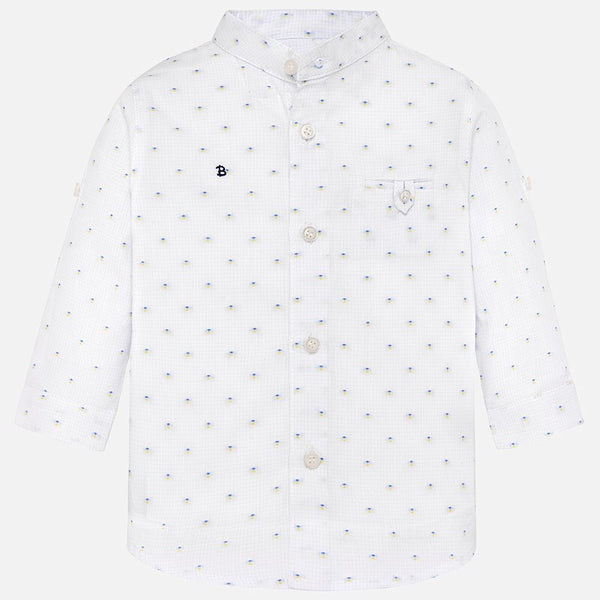 Mayoral Long Sleeve Mao Collar Buttondown
