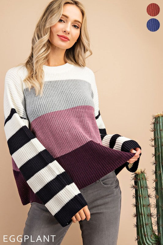 All the Fall Feels Sweater - Eggplant
