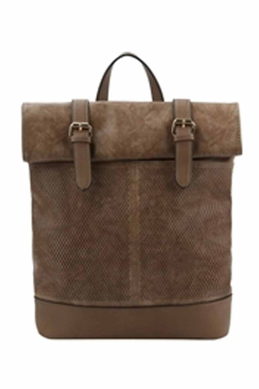 Taupe Flaptop Backpack