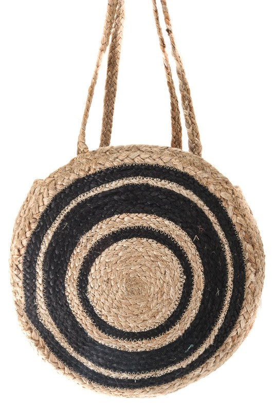 Black Hippie Woven Bag