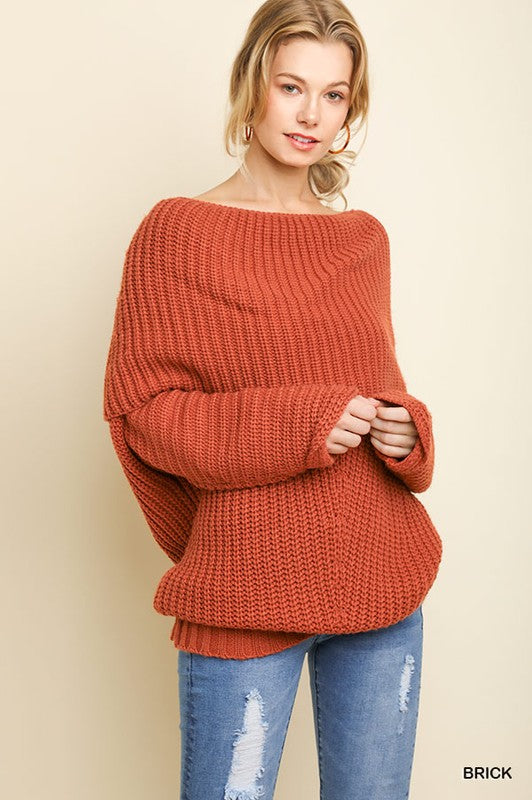 Umgee Brick Sweater