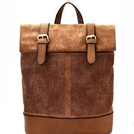 Brown Flaptop Backpack