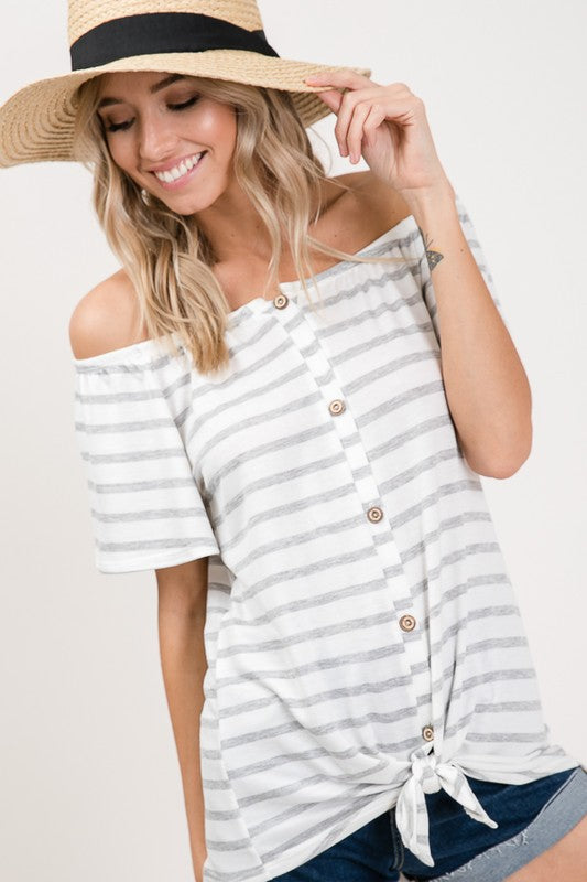Captains Bay Off Shoulder Top