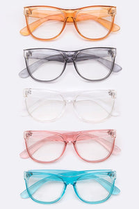 Colored Clear Fashion Glasses