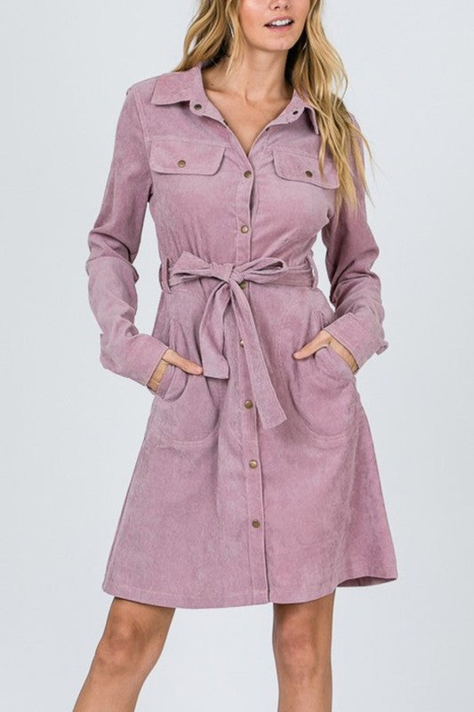 Mauve Safari Dress